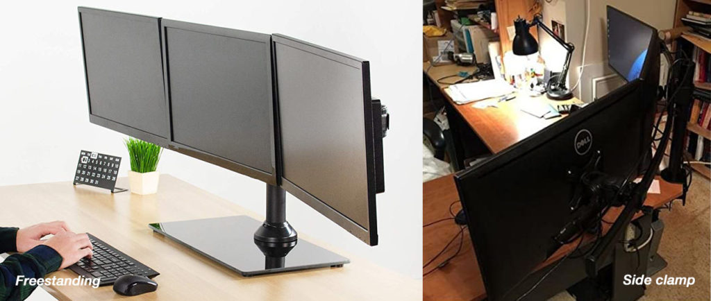 types of monitor mounts